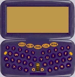 This design is a clamshell with a keypad on the bottom. It also is the most developed prototype.